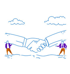 two businessman communication business partnership vector image