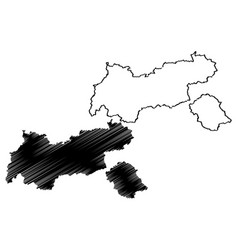 tyrol map vector image