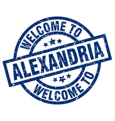 Welcome to alexandria blue stamp vector