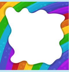 abstract background with cartoon rainbows and vector image