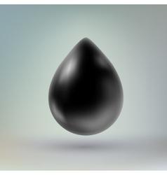 Black drop of liquid vector image
