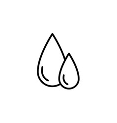 blood drops icon on white background vector image vector image