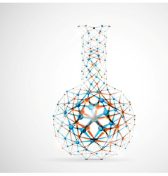Chemical flask vector image