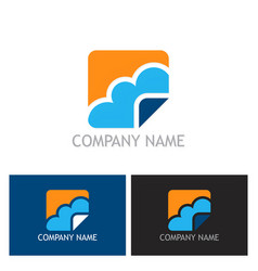 cloud icon logo vector image