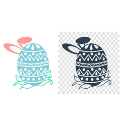 easter icon in the form vector image