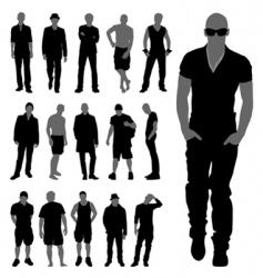 fashion man set vector image