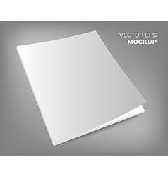 magazine mockup on grey background vector image