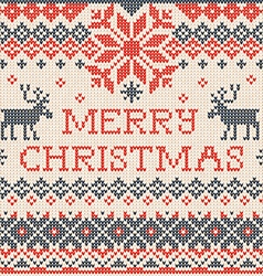 Merry Christmas Scandinavian or russian style vector image