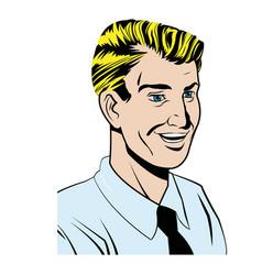 pop art man wearing shirt and tie vector image vector image