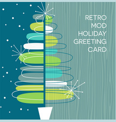 retro abstract christmas tree design vector image