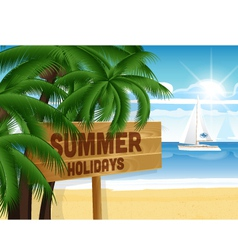 Summer design vector image vector image