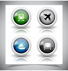 abstract glass buttons vector image