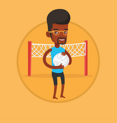 beach volleyball player vector image