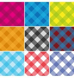 Seamless Cross weave Gingham Pattern vector image