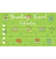 art of greeting card vector image