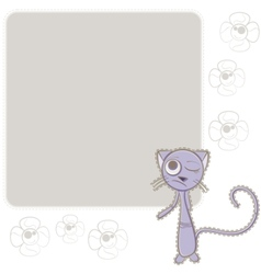 background with blue cat vector image vector image