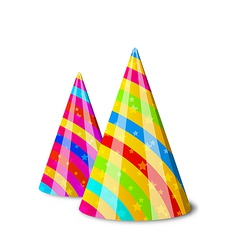 Colorful party hats for your holiday isolated on vector image