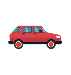 red car icon vector image