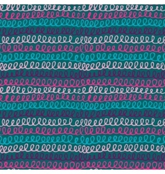 Seamless pattern with hand drawn abstract knitting vector image