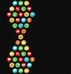 Social app icon background in flat art style vector image vector image