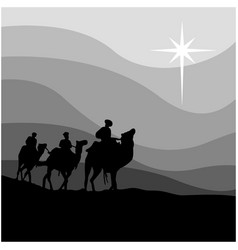 journey of three wise men isolated vector image