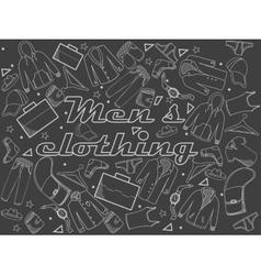 Men clothing chalk vector image vector image