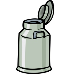 milk can or churn cartoon clip art vector image vector image