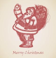 Red Santa Claus Sketch vector image vector image