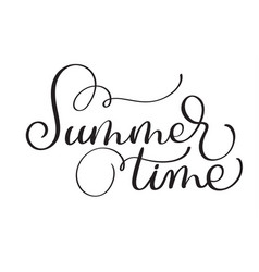 text summer time on a white background vector image vector image