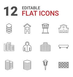 12 urban icons vector image