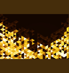Abstract template background with gold triangle vector