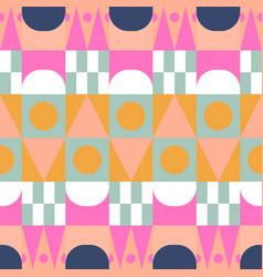 african color block seamless pattern vector image