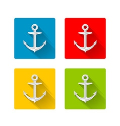 Anchor icons vector image