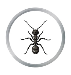 Ant icon in cartoon style isolated on white vector image