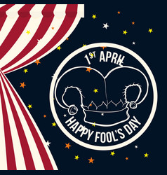 april fools day hat joker symbol vector image