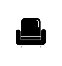 Armchair black glyph icon vector