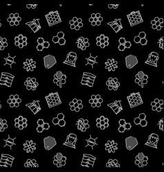 beekeeping and apiary dark seamless vector image