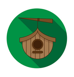 birdhouse icon on white background vector image
