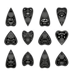 Black esoteric board design set vector