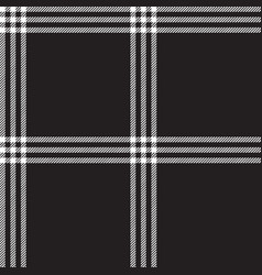 black white check plaid fabric texture seamless vector image
