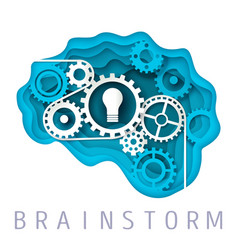 brainstorm concept in paper vector image