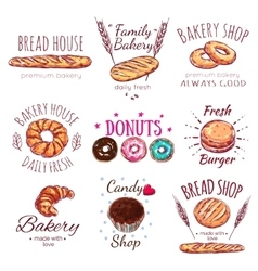 Bread House Logo Set vector