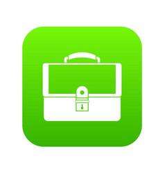briefcase icon digital green vector image