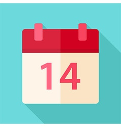 Calendar valentine day vector