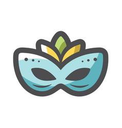 Carnival mask masquerade icon cartoon vector