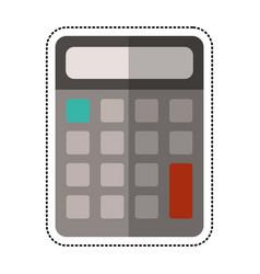 cartoon calculator math school vector image