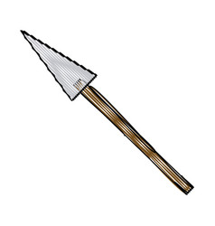 cartoon spear weapon war medieval vector image