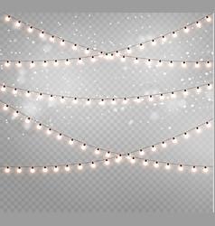 Christmas lights lamp vector