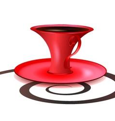 Crimson cup vector