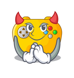 Devil video game controller shaped on charcter vector
